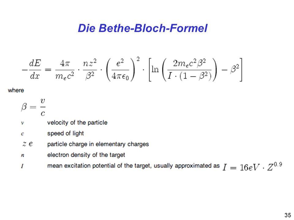 Die Bethe-Bloch-Formel