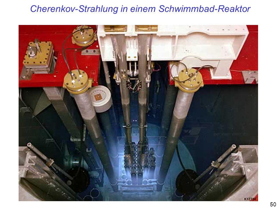 Cherenkov-Strahlung in einem Schwimmbad-Reaktor