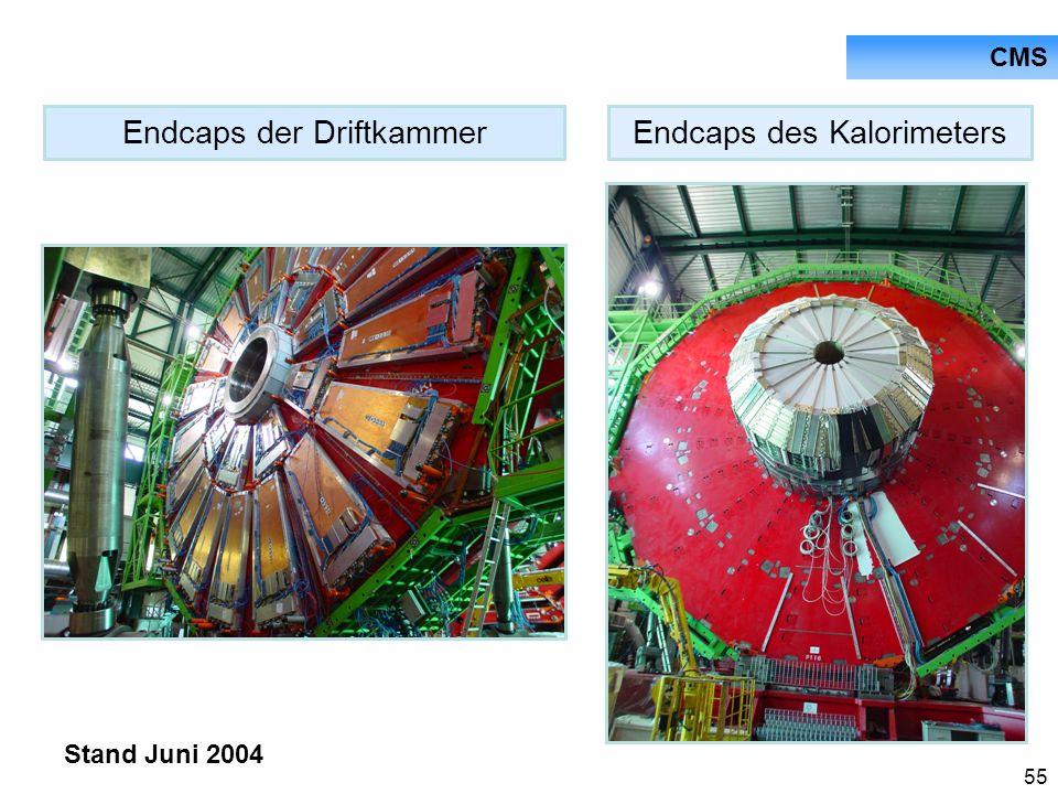 Endcaps der Driftkammer Endcaps des Kalorimeters