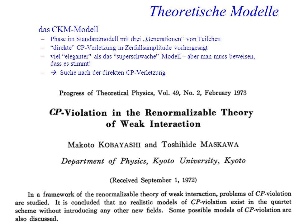 Theoretische Modelle das CKM-Modell