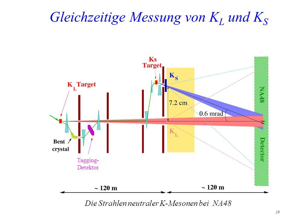 Gleichzeitige Messung von KL und KS