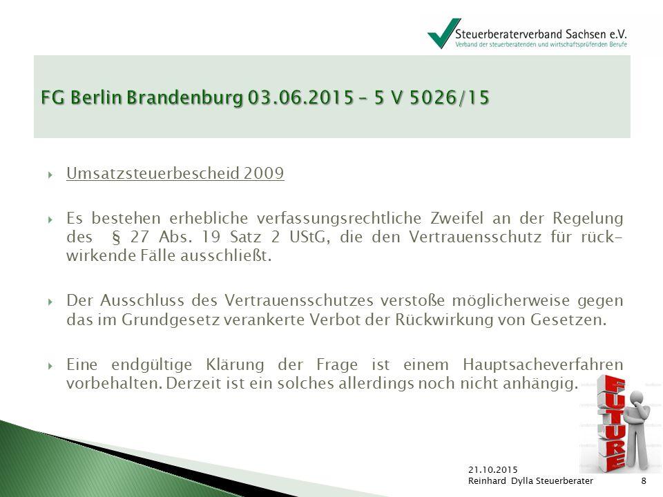FG Berlin Brandenburg 03.06.2015 – 5 V 5026/15