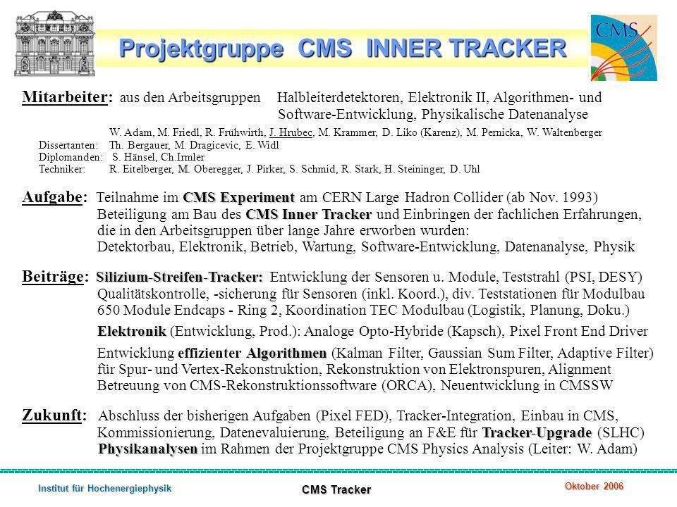 Projektgruppe CMS INNER TRACKER Institut für Hochenergiephysik