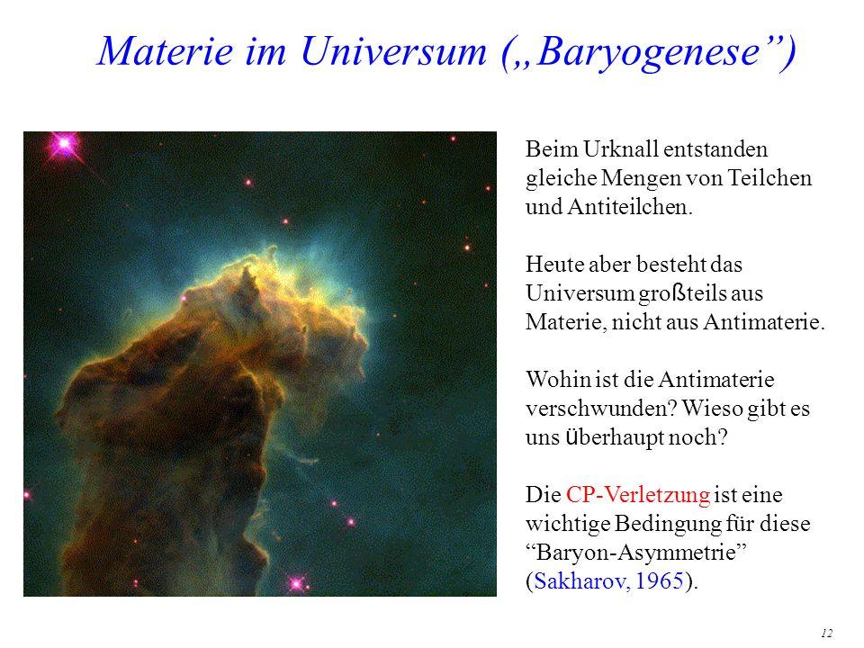 "Materie im Universum (""Baryogenese )"