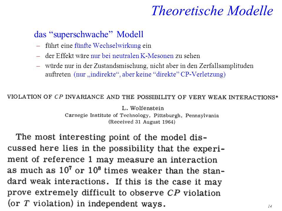 Theoretische Modelle das superschwache Modell