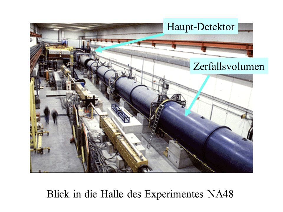 Blick in die Halle des Experimentes NA48