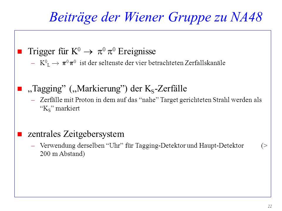 Beiträge der Wiener Gruppe zu NA48