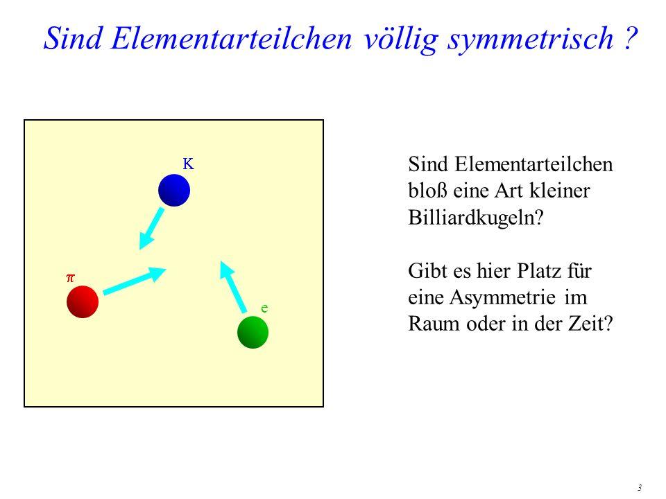 Sind Elementarteilchen völlig symmetrisch