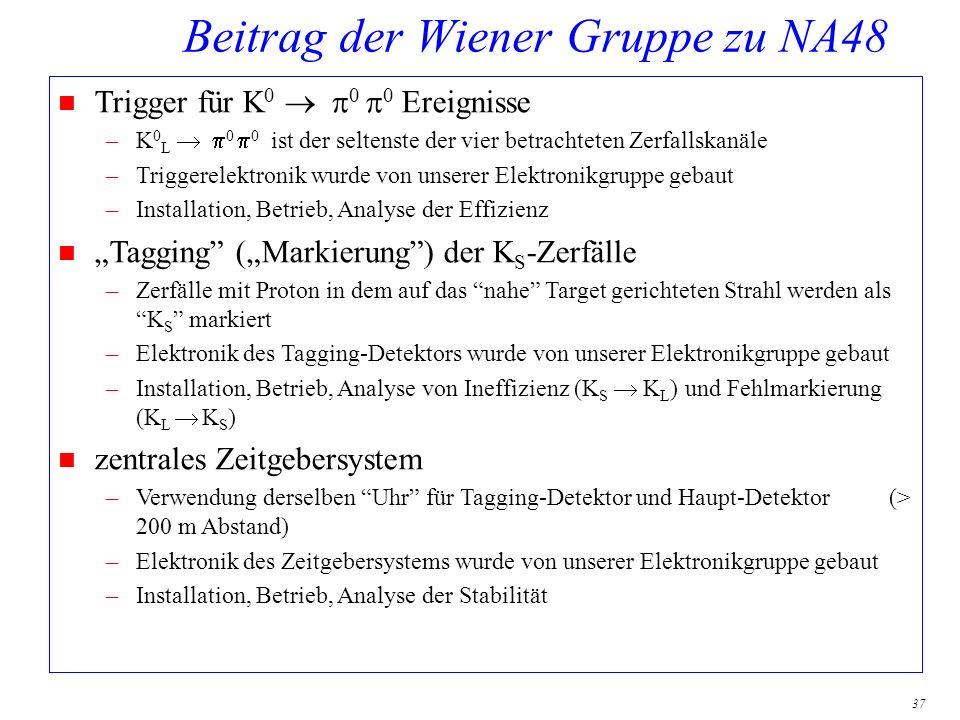 Beitrag der Wiener Gruppe zu NA48