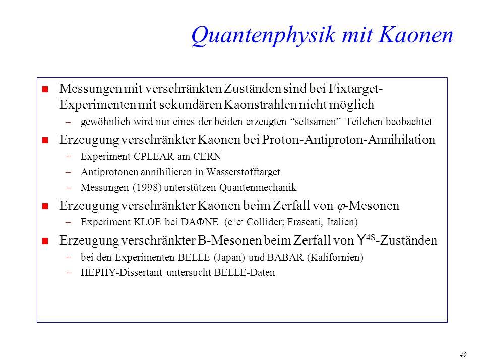 Quantenphysik mit Kaonen