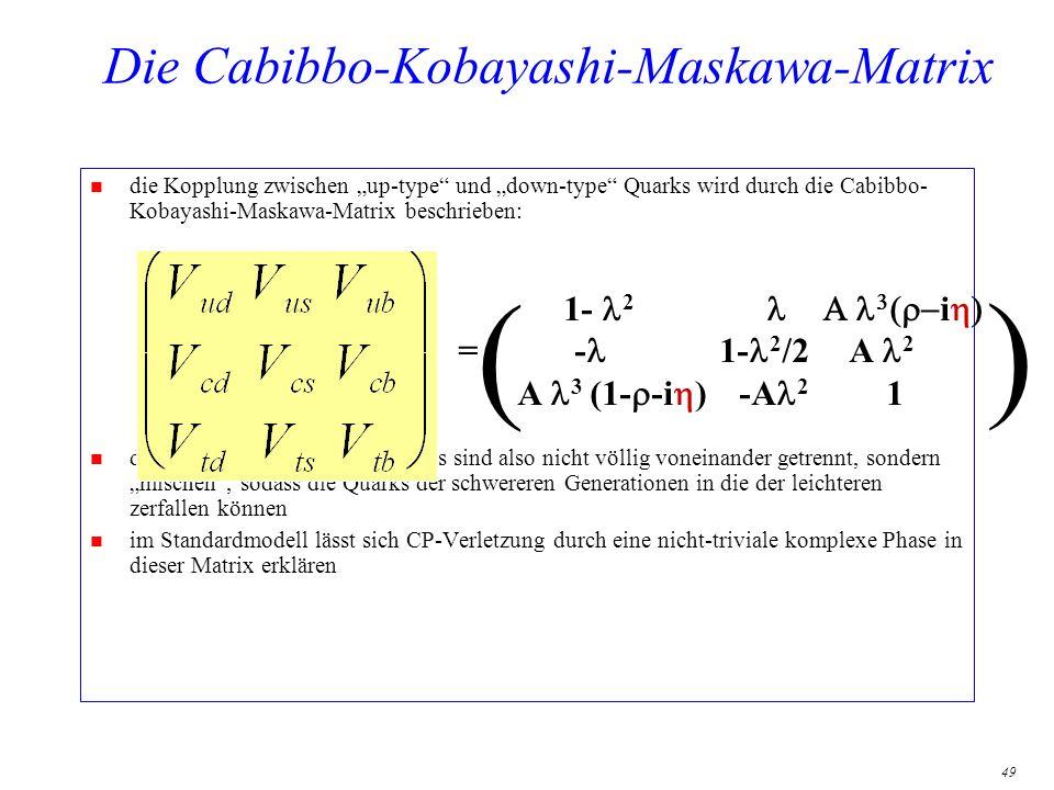 Die Cabibbo-Kobayashi-Maskawa-Matrix