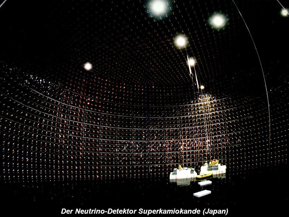 Der Neutrino-Detektor Superkamiokande (Japan)