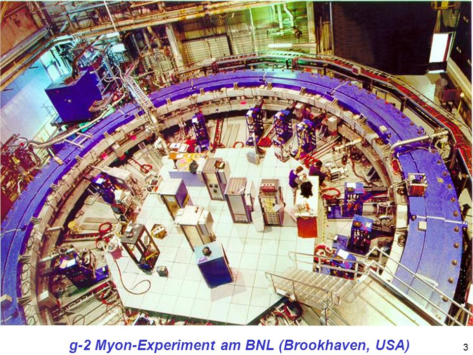 g-2 Myon-Experiment am BNL (Brookhaven, USA)