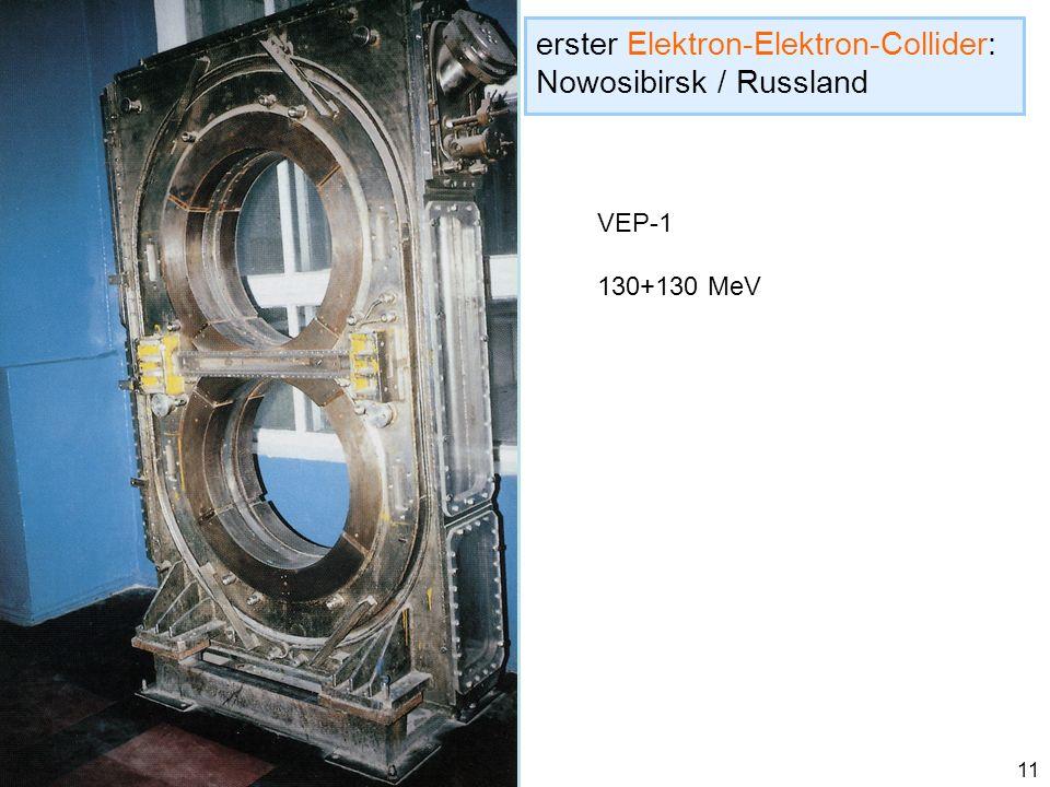 erster Elektron-Elektron-Collider: Nowosibirsk / Russland