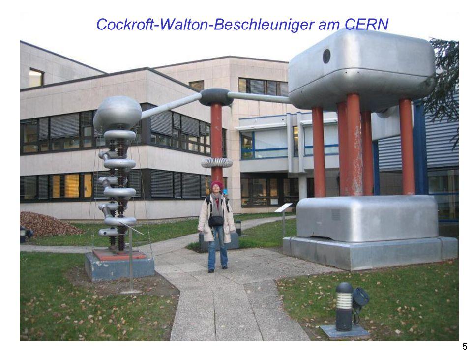 Cockroft-Walton-Beschleuniger am CERN