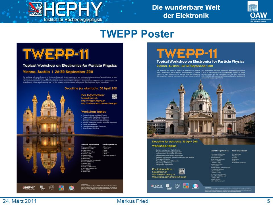 TWEPP Poster 24. März 2011 Markus Friedl
