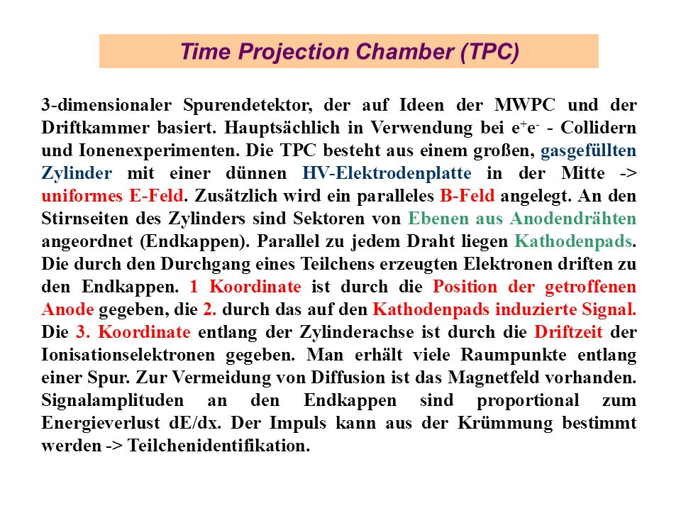 Time Projection Chamber (TPC)