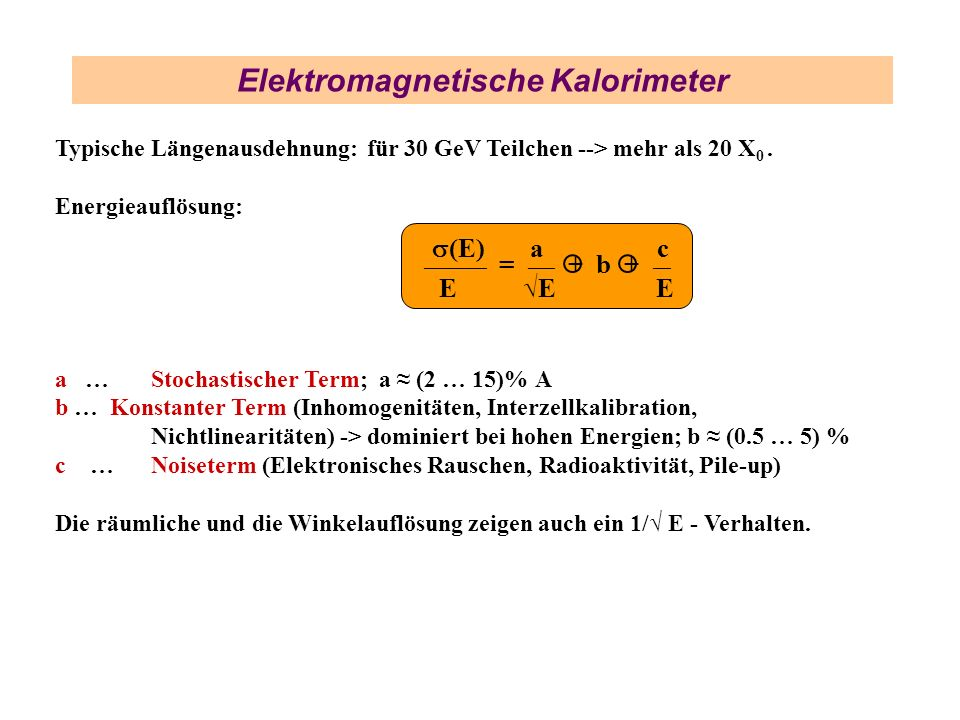 Elektromagnetische Kalorimeter