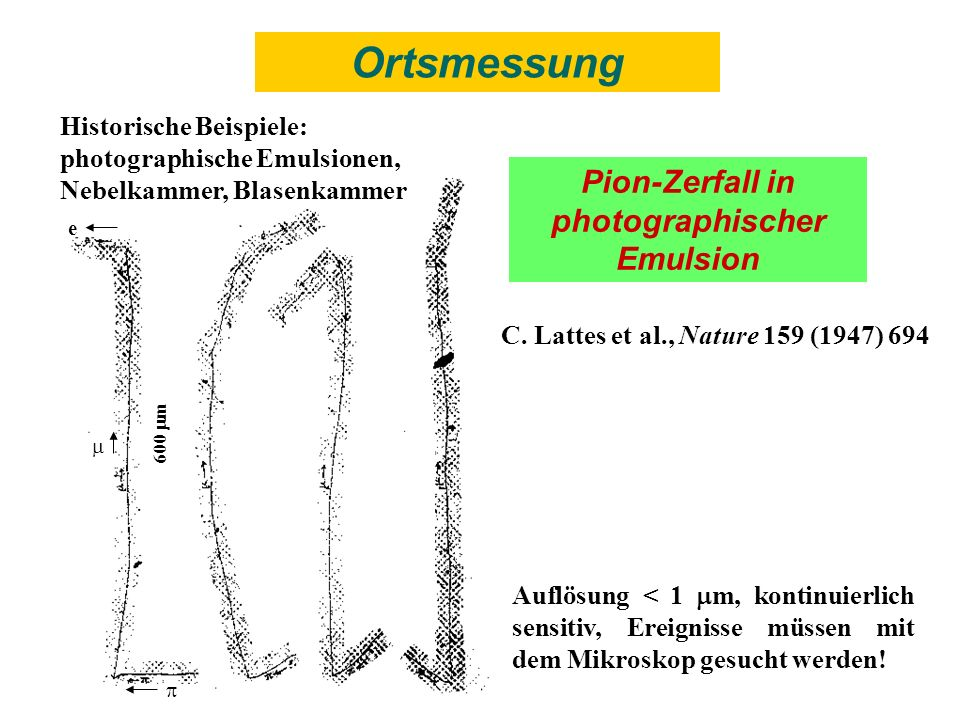 Pion-Zerfall in photographischer Emulsion