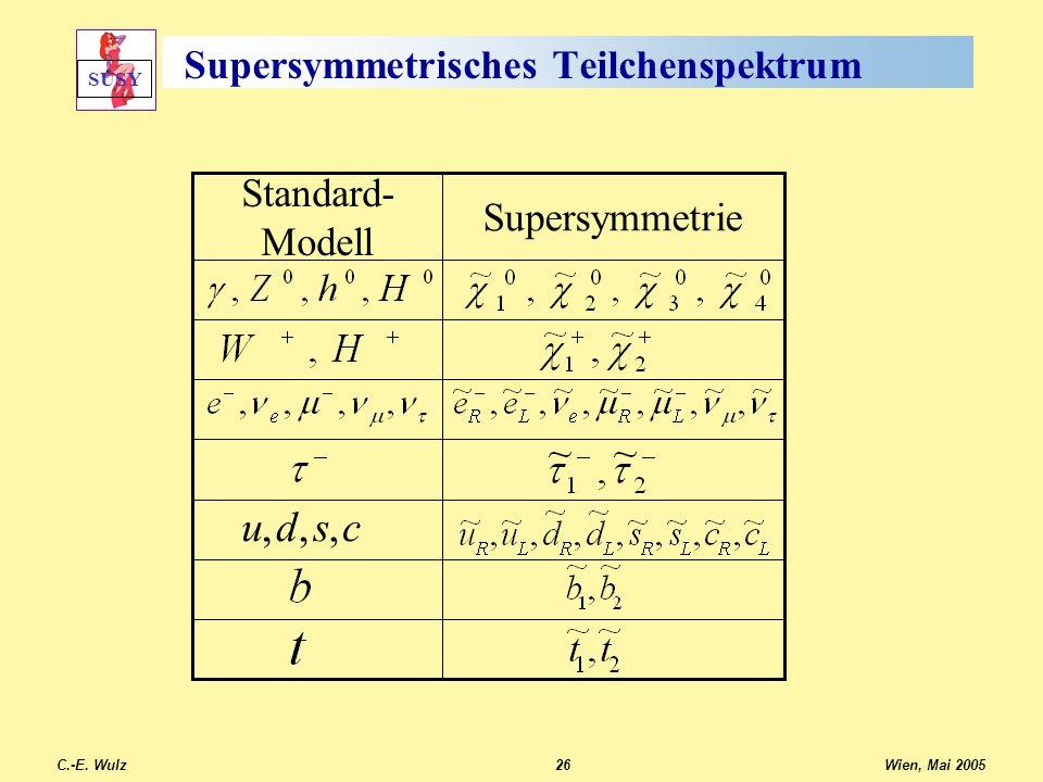 Supersymmetrisches Teilchenspektrum