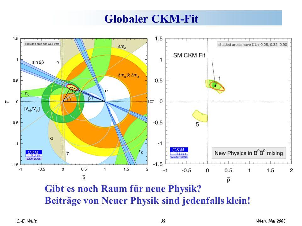 Globaler CKM-Fit Gibt es noch Raum für neue Physik