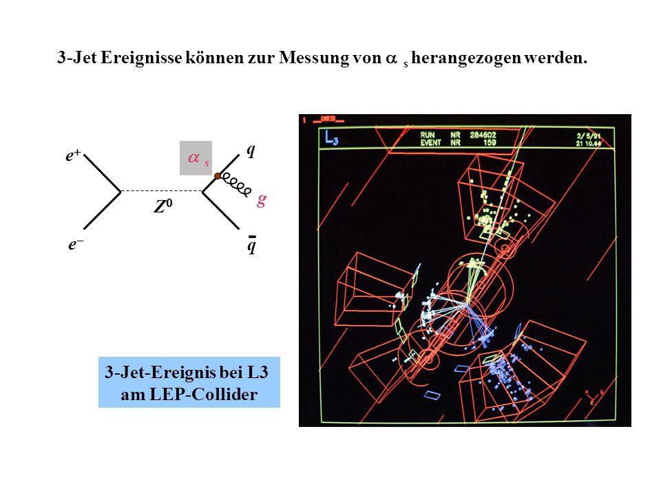 - 3-Jet Ereignisse können zur Messung von as herangezogen werden. q
