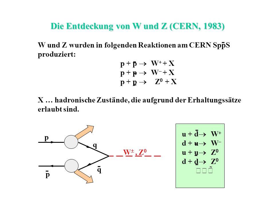 Die Entdeckung von W und Z (CERN, 1983)