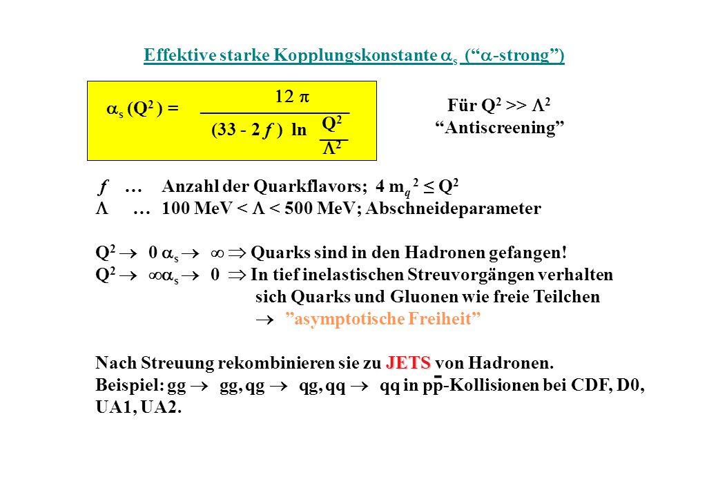 Effektive starke Kopplungskonstante as ( a-strong )