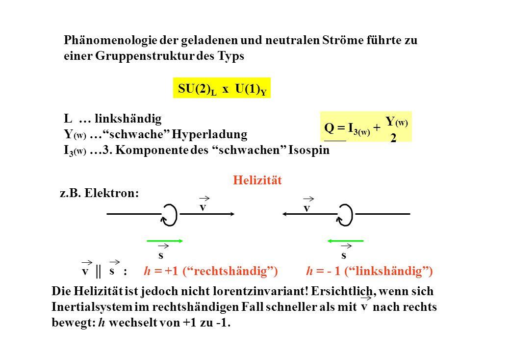 Y(w) … schwache Hyperladung