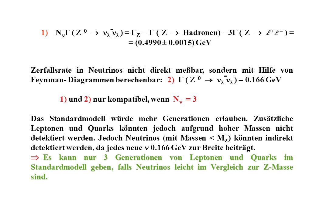 NnG (  ) = G - G Hadronen) - 3G l +l - ) =