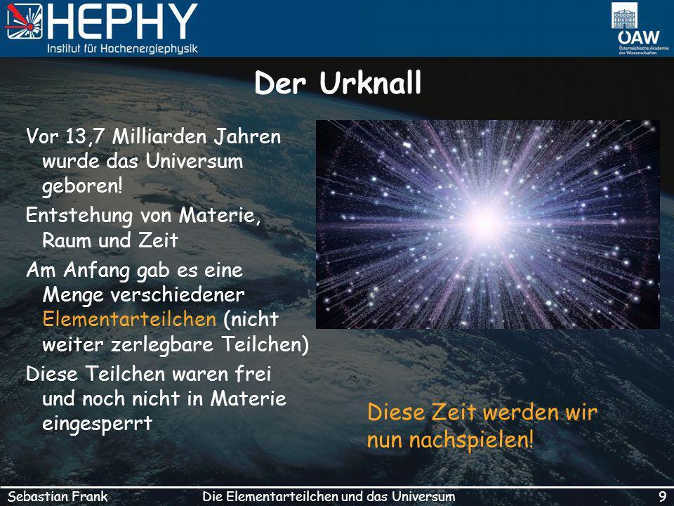 Die Elementarteilchen und das Universum