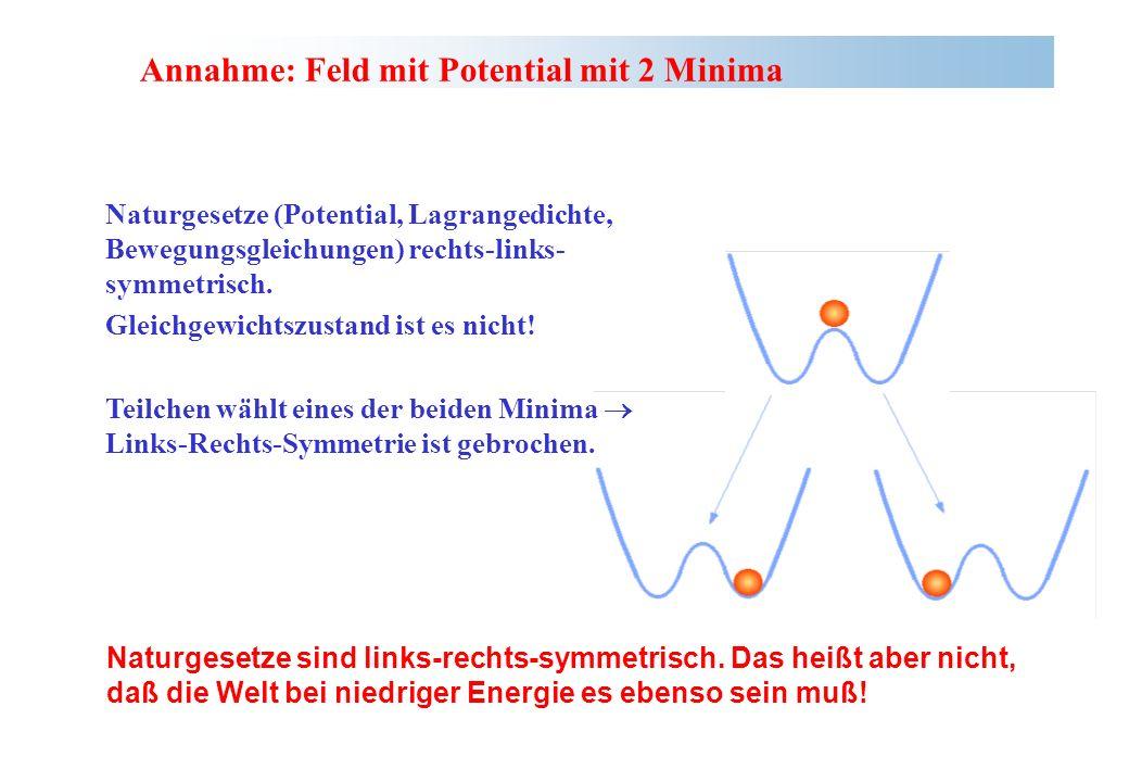 Annahme: Feld mit Potential mit 2 Minima