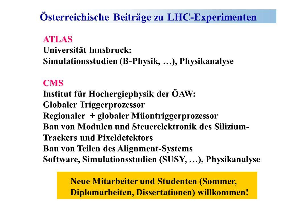 Österreichische Beiträge zu LHC-Experimenten