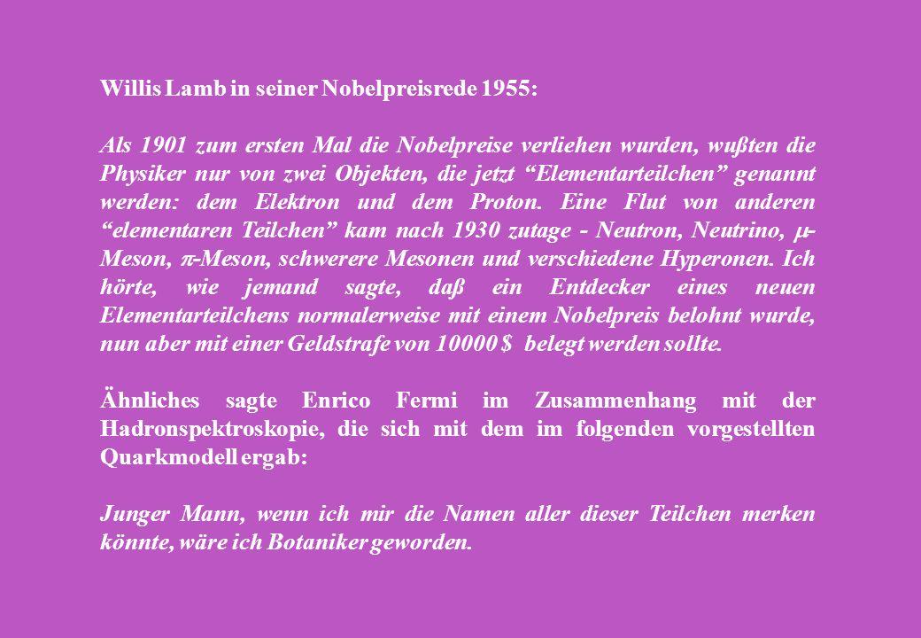 Willis Lamb in seiner Nobelpreisrede 1955: