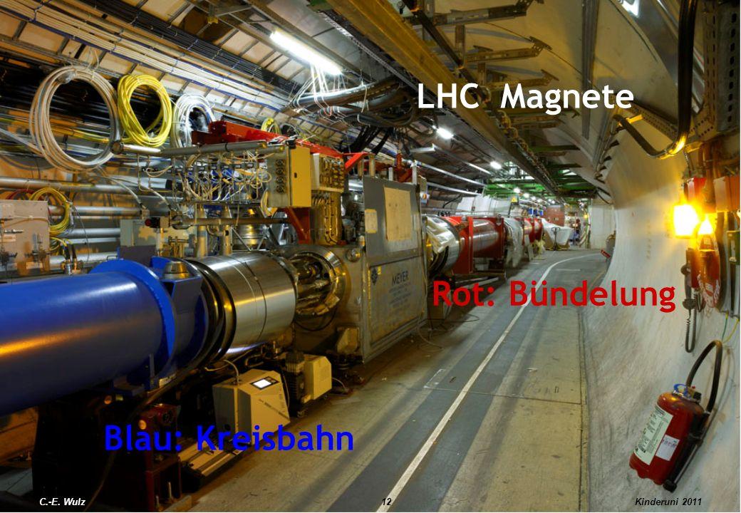 LHC Magnete Rot: Bündelung Blau: Kreisbahn C.-E. Wulz