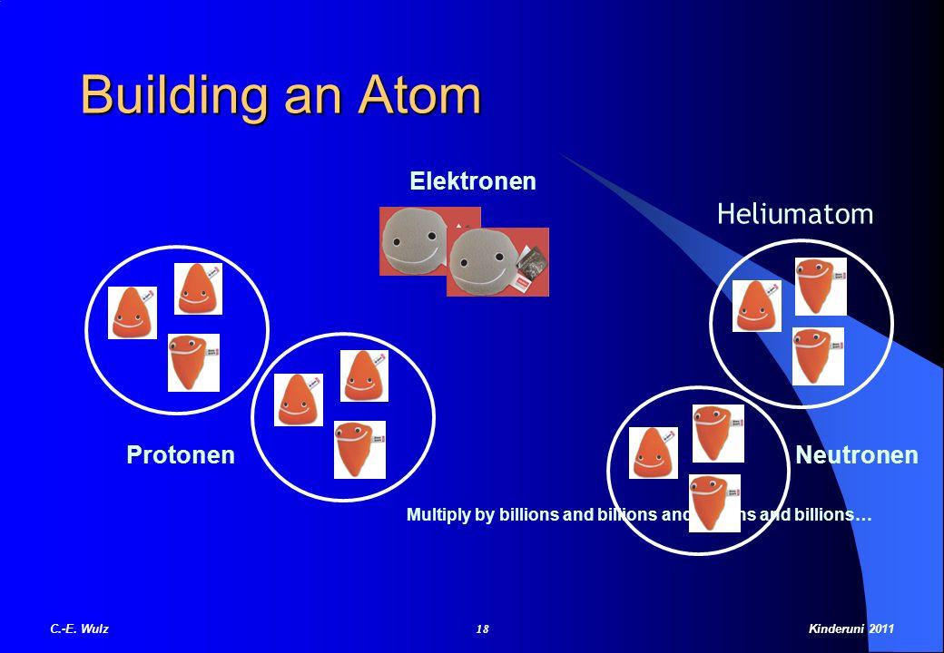 Building an Atom Heliumatom Elektronen Protonen Neutronen
