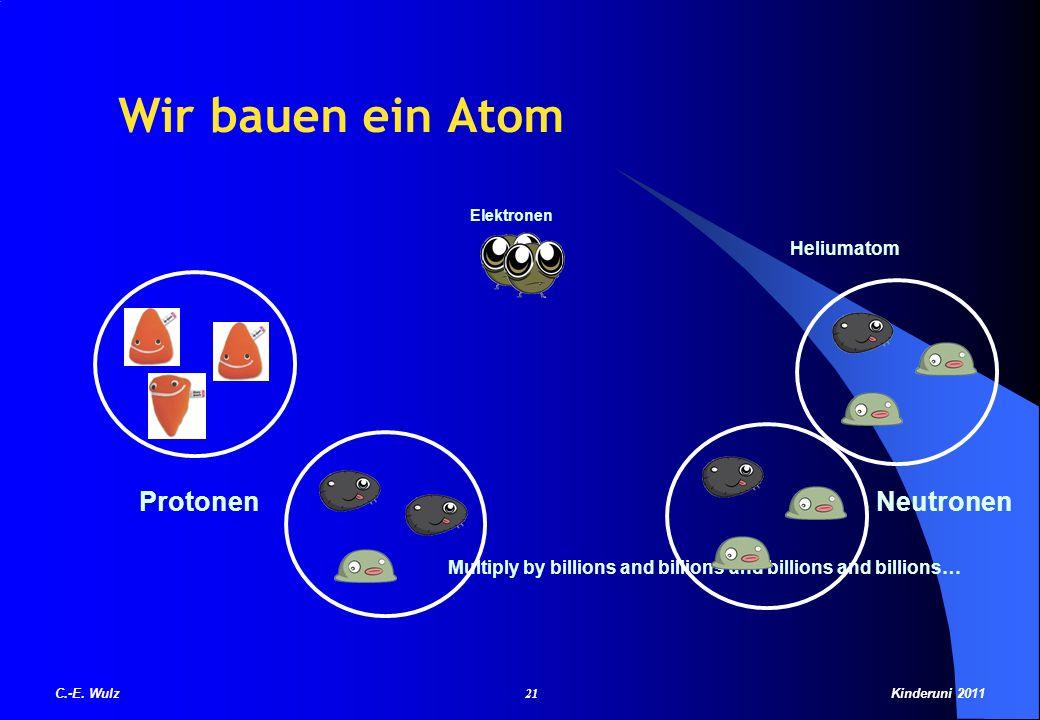 Wir bauen ein Atom Protonen Neutronen Heliumatom