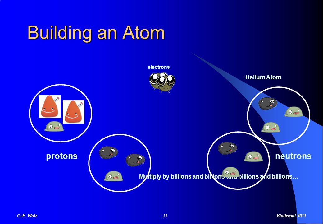 Building an Atom protons neutrons Helium Atom