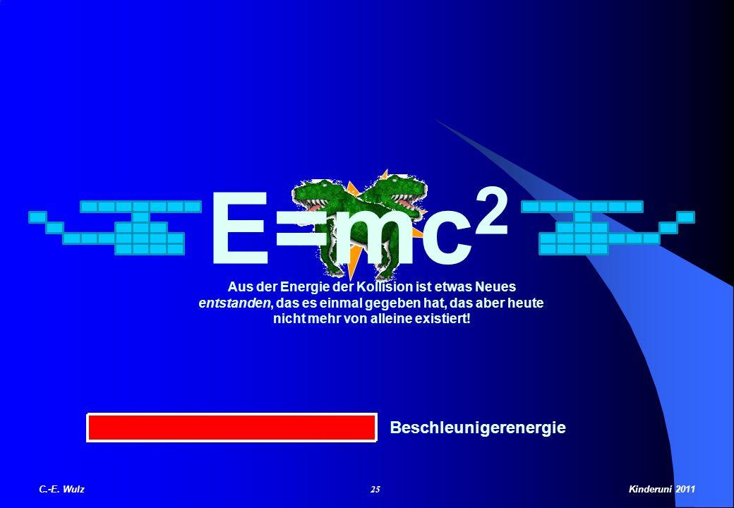 E=mc2 Beschleunigerenergie