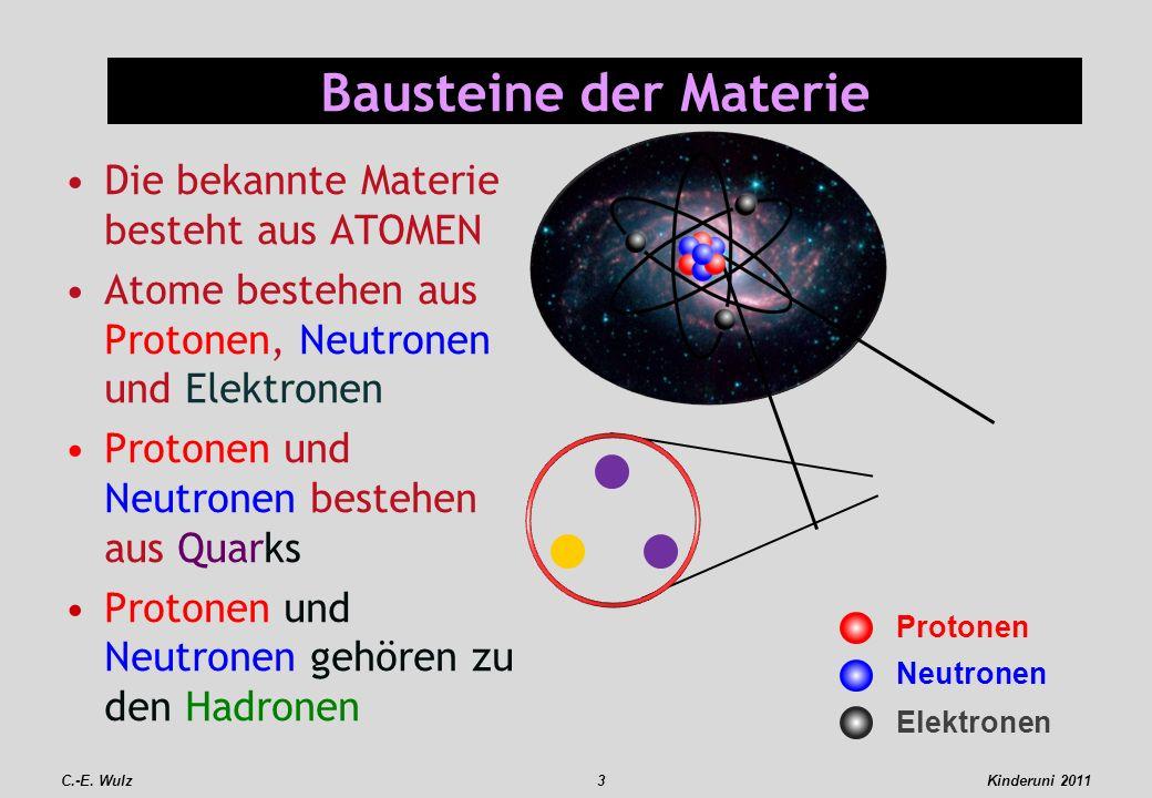 Bausteine der Materie Die bekannte Materie besteht aus ATOMEN