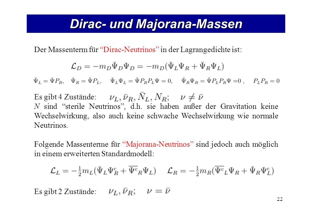 Dirac- und Majorana-Massen