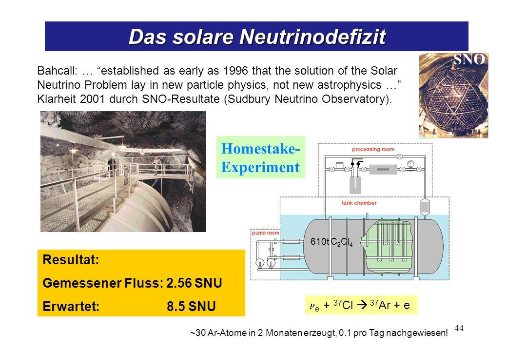 Neutrinomessungen am SNO