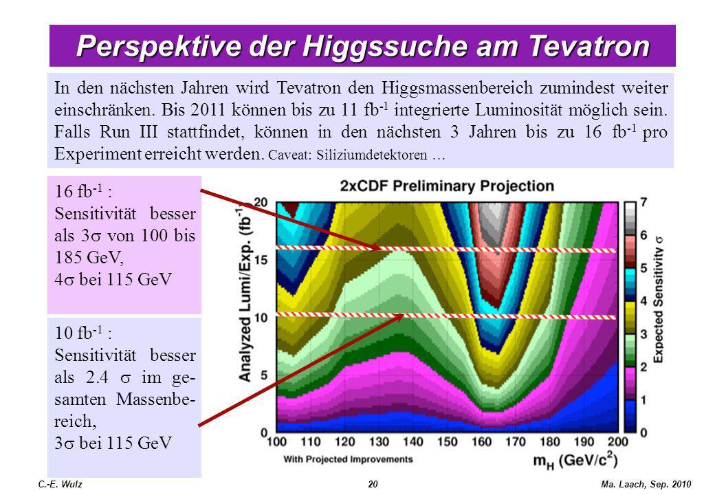 Perspektive der Higgssuche am Tevatron