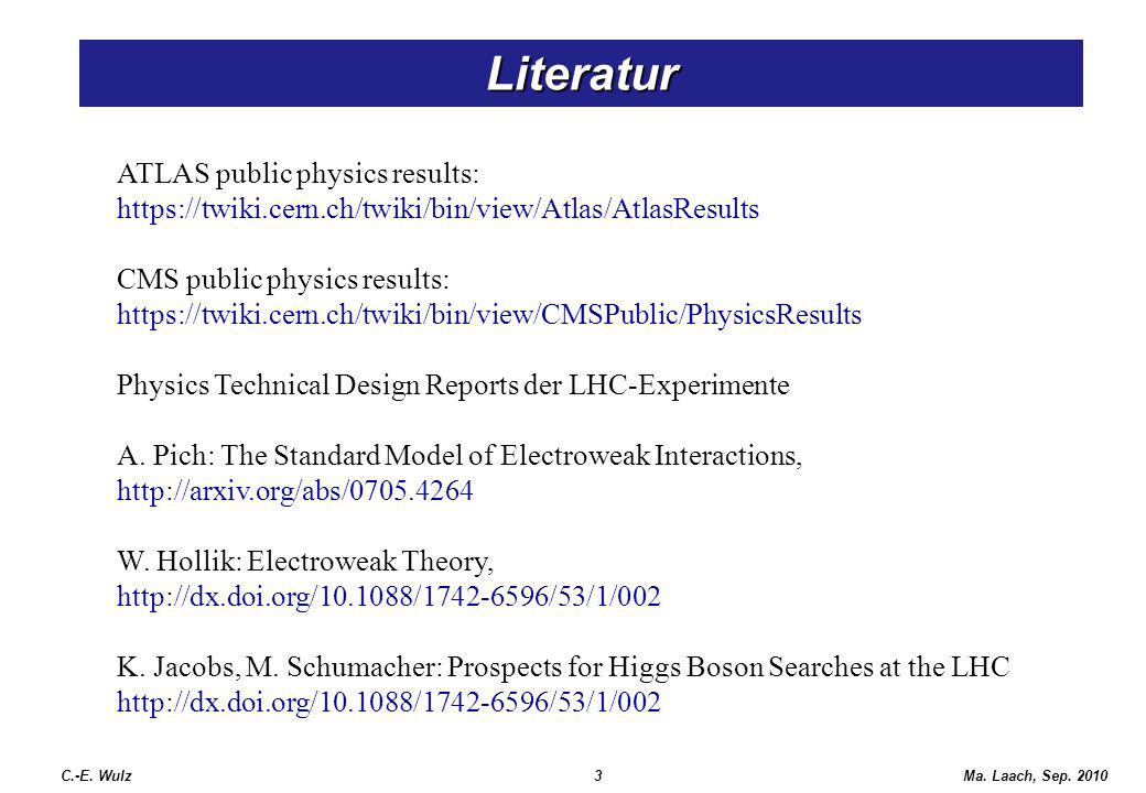 Literatur ATLAS public physics results: