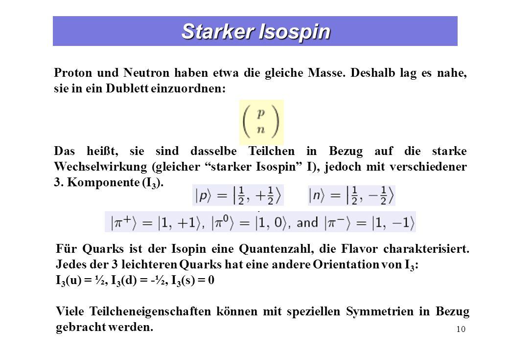 Hadronen: Mesonen und Baryonen