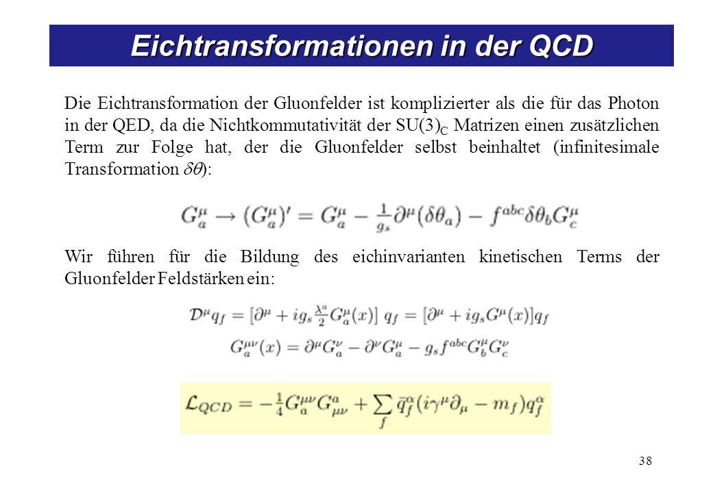 Aufspaltung der QCD-Lagrangefunktion