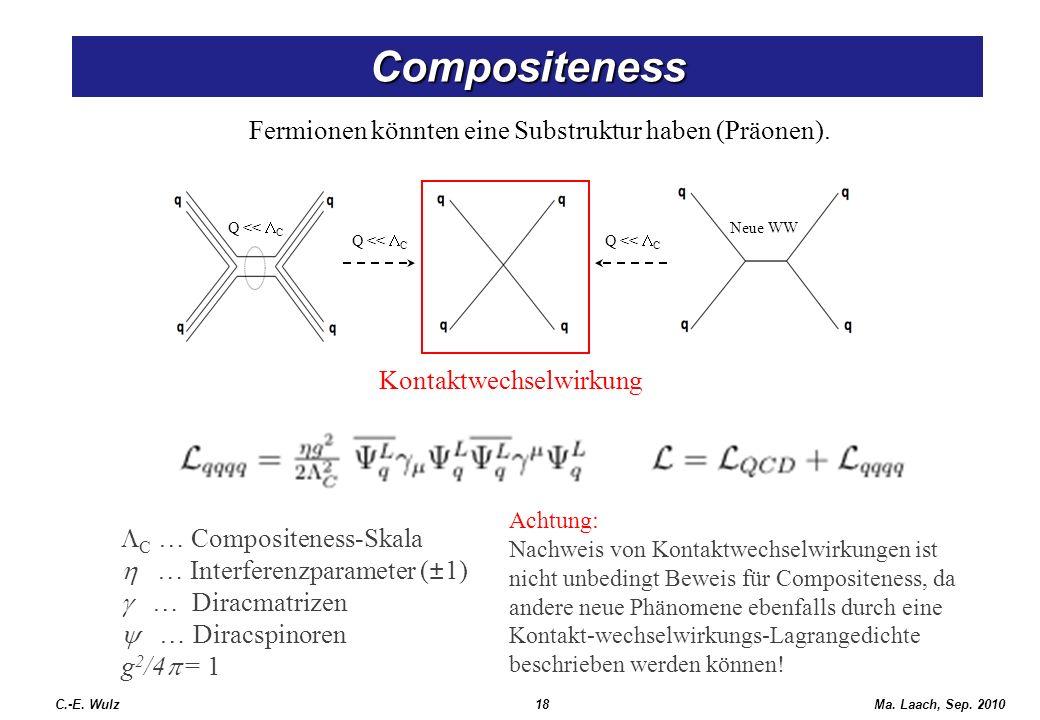 Fermionen könnten eine Substruktur haben (Präonen).
