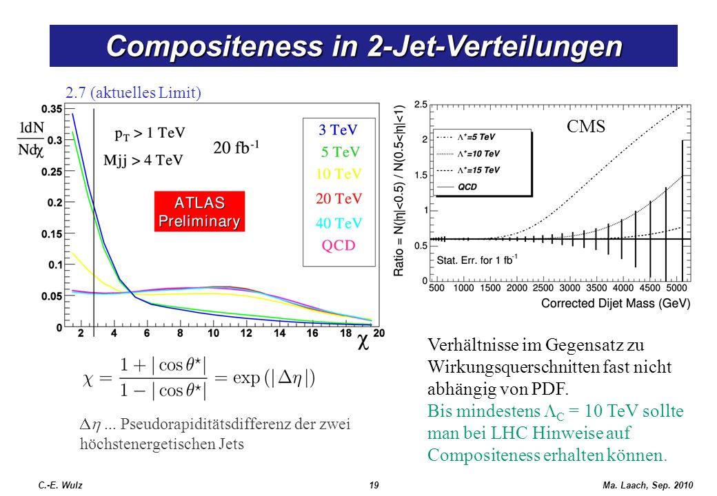 Compositeness in 2-Jet-Verteilungen