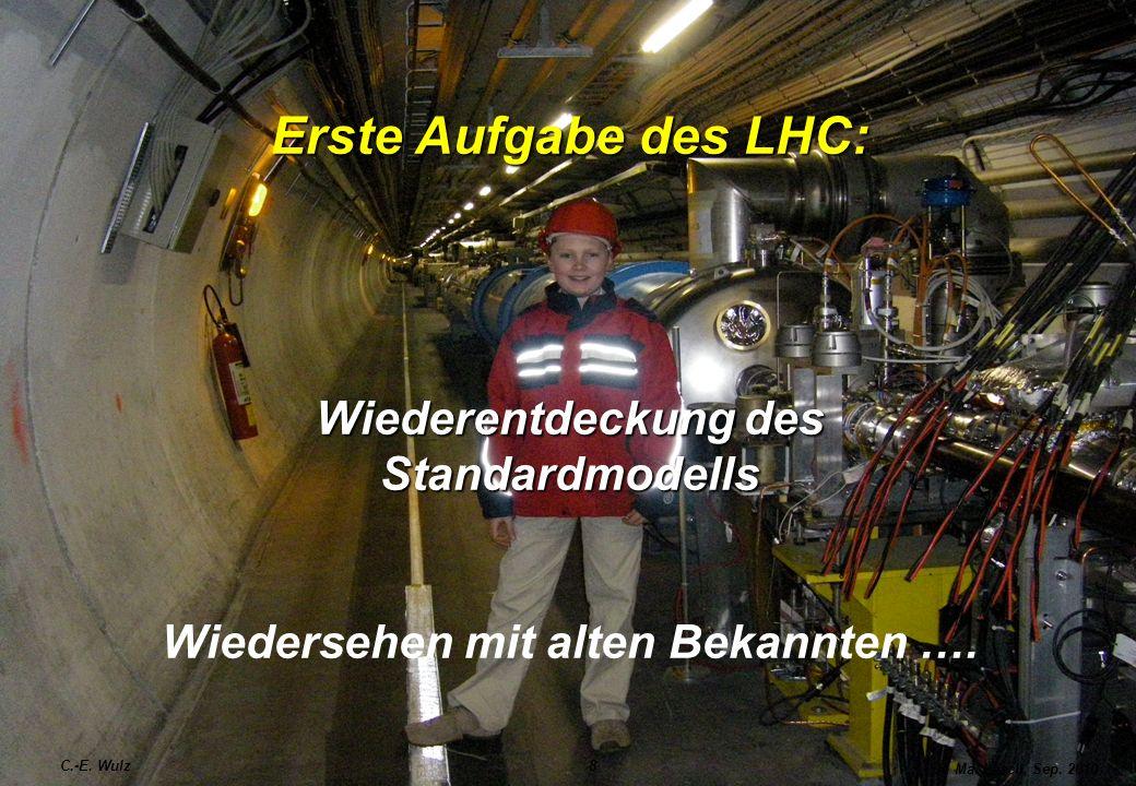 Erste Aufgabe des LHC: Wiederentdeckung des Standardmodells