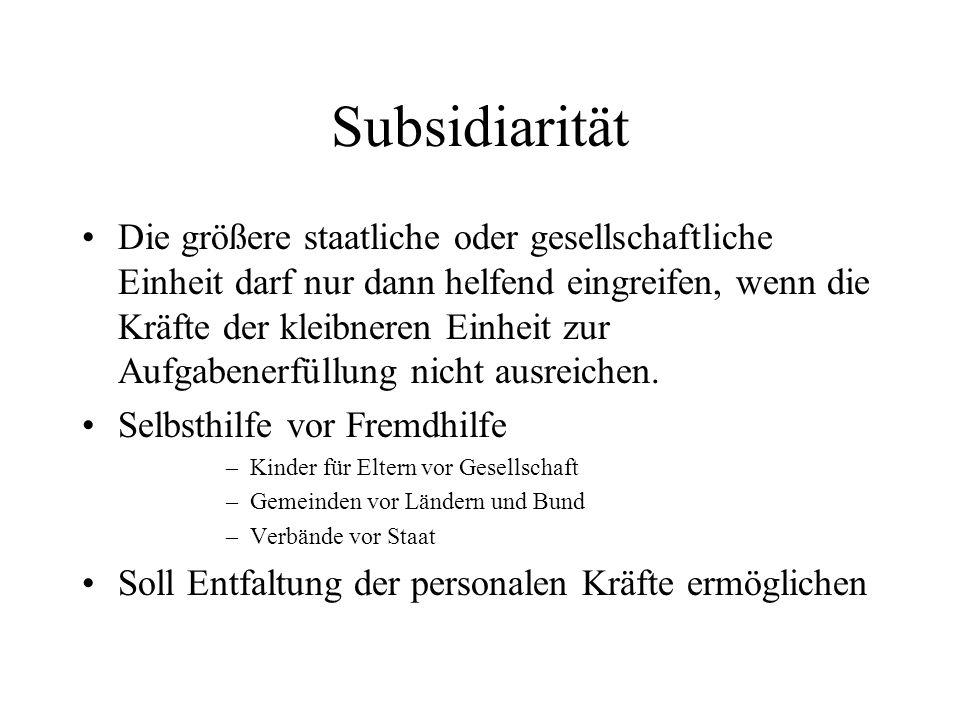Subsidiarität